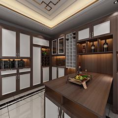 新中式-餐厅酒柜3